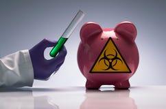 Schweingrippeimpfstoff Stockfotos