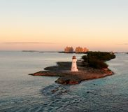 Schweininselleuchtturm lizenzfreies stockfoto