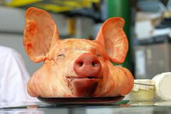 Schweinkopf Stockfoto