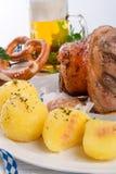 Schweinshaxe - pork knuckle on Bavarian Stock Photos