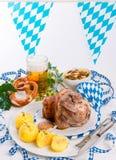 Schweinshaxe - pork knuckle on Bavarian Royalty Free Stock Photos