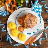 Schweinshaxe - pork knuckle on Bavarian Royalty Free Stock Photography