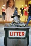 Schweinstatue im Einkaufsbezirk von Rundle-Mall Stockfotografie