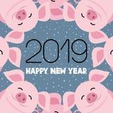 Schweinsymbol des neuen Jahres vektor abbildung