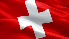 Schweitz att vinka sjunker Vinka för flagga för medborgare 3d schweiziskt Tecken av Schweiz den sömlösa öglasanimeringen Schweizi vektor illustrationer