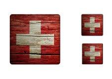 Schweiz flaggaknappar Arkivbilder