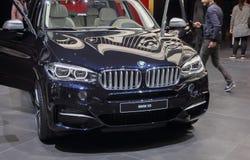 Schweiz; Genève; Mars 8, 2018; BMW X5; den 88th Internaen royaltyfria foton