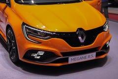 Schweiz; Genève; Mars 8, 2018; Renault Megane R S ; 88ten royaltyfri bild