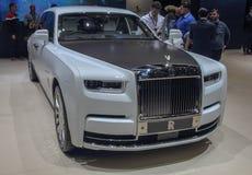Schweiz; Genève; Mars 9, 2019; Rolls Royce Phantom Tranquillity; Den 89th internationella motorshowen i Genève från 7th till 17th royaltyfria bilder