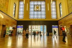 Schweiz järnvägsstation Arkivbilder