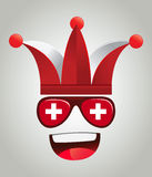 Schweiz nationellt supportertecken Fotografering för Bildbyråer