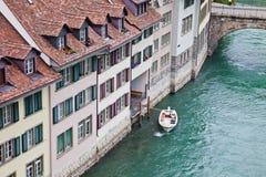 Schweiz, stadsBern och flod Aare Royaltyfri Foto