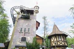Schweiz themed område - Europa parkerar i rost, Tyskland Royaltyfria Bilder