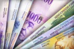 Schweizare Franc Background Arkivbild