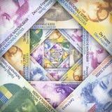 Schweizare Franc Background Royaltyfria Bilder