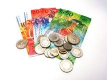 Schweizare Franc Money Arkivfoton