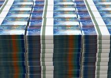Schweizare Franc Notes Bundles Stack royaltyfria bilder