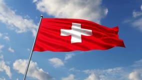 Schweizareflagga royaltyfri illustrationer