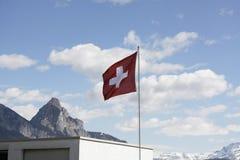 Schweizareflagga Royaltyfria Bilder