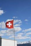 Schweizareflagga Arkivfoton