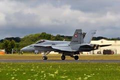 Schweizareflygvapen för bålgeting F18 Arkivfoto