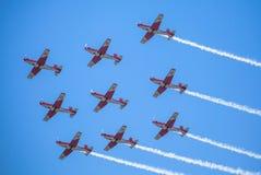 Schweizer aerobatic Gruppe PC-7 Team Stockbilder