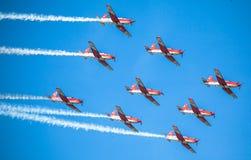 Schweizer aerobatic Gruppe PC-7 Team Stockfoto