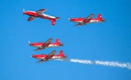 Schweizer aerobatic Gruppe PC-7 Team Stockbild