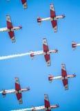 Schweizer aerobatic Gruppe PC-7 Team Lizenzfreies Stockfoto