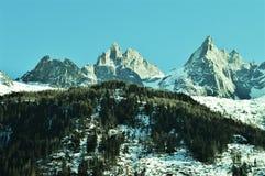 Schweizer Alpen im Winter lizenzfreie stockbilder