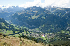 Schweizer Alpen (Kleine Scheidegg zu Mannlichen) Stockfotografie
