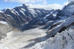 Schweizer Alpen von Jungfrau Lizenzfreie Stockfotografie