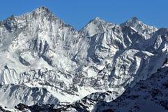 Schweizer Alpen Weisshorn lizenzfreies stockbild