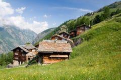 Schweizer alpine Ansicht des Sommers Lizenzfreies Stockbild