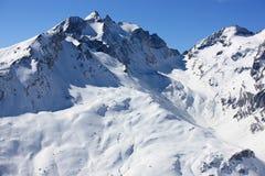 Schweizer Berge im Winter Stockfotos