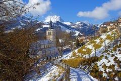 Schweizer Dorf Stockfotos
