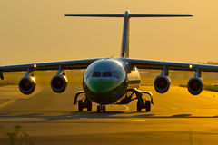 Schweizer an Flughafen Warschaus Okecie. Lizenzfreies Stockfoto