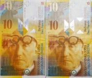 Schweizer Franke stockfoto
