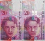 Schweizer Franke Stockbilder