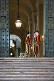 Schweizer garde Vatikanstadt stock images