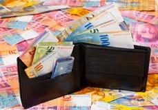 Schweizer Geld Stockbild