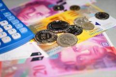 Schweizer Geld Lizenzfreies Stockfoto