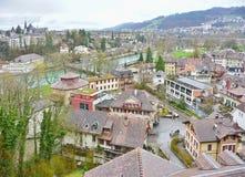 Schweizer Hauptstadt von Bern, die Schweiz Lizenzfreies Stockfoto