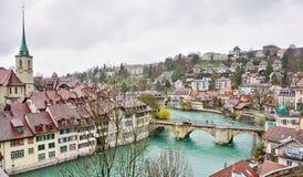 Schweizer Hauptstadt von Bern, die Schweiz Lizenzfreies Stockbild