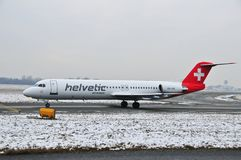 Schweizer helvetic Flugzeuge Lizenzfreie Stockfotos