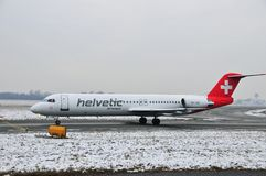 Schweizer helvetic Flugzeuge Stockbilder