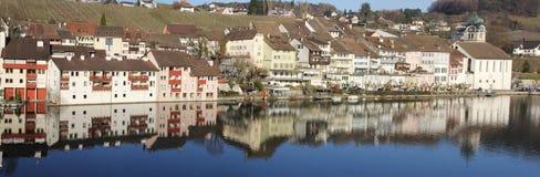 Schweizer historische Stadt Eglisau Stockbild