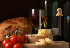 Schweizer Käse Specialty Tete de Moine Lizenzfreies Stockbild