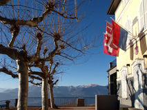 Schweizer - Lugano, Monte Bré Lizenzfreie Stockbilder
