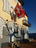 Schweizer - Lugano, Monte Bré Stockbild